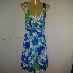 Dressbarn Sleeveless Cotton Blend Dress Size 12